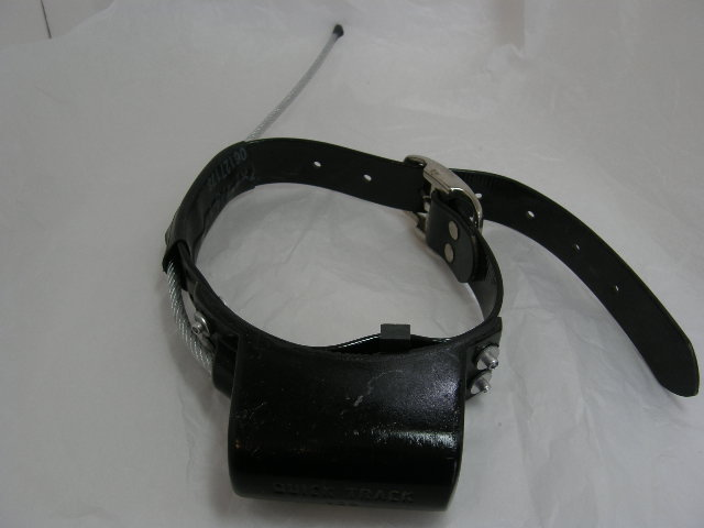 USED Quick Track Tracking Collar 217.404 on a Black Strap