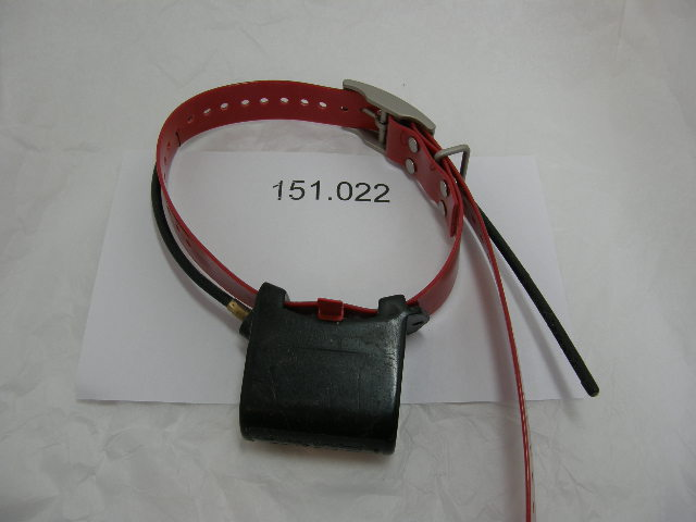 USED Magnum Telemetry Tracking Collar Slipper Style 151.022 on a Red Strap