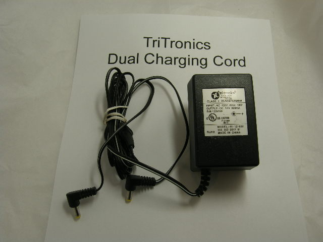 USED Tri-Tronics Dual Power Cord for collars and/or transmitter